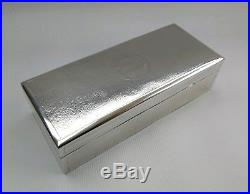 Vtg 1925 Shanghai Club Chinese Export Solid Silver/Gilt Trinket Jewellery Box