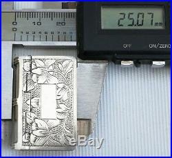 Vtg Chinese Export 50% Solid Silver/Gilt Book Snuff Pill Trinket Box Vinaigrette