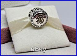 With Box Pandora Good Fortune Chinese New Year Asian Charm ENG792016CZ 6 Canada Ex