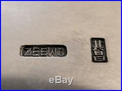 ZEEWO CHINESE EXPORT SILVER BOX ARGENT MASSIF CHINE GRAND COFFRET 1113g